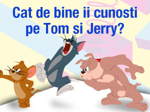 Cat de bine ii cunosti pe Tom si Jerry?