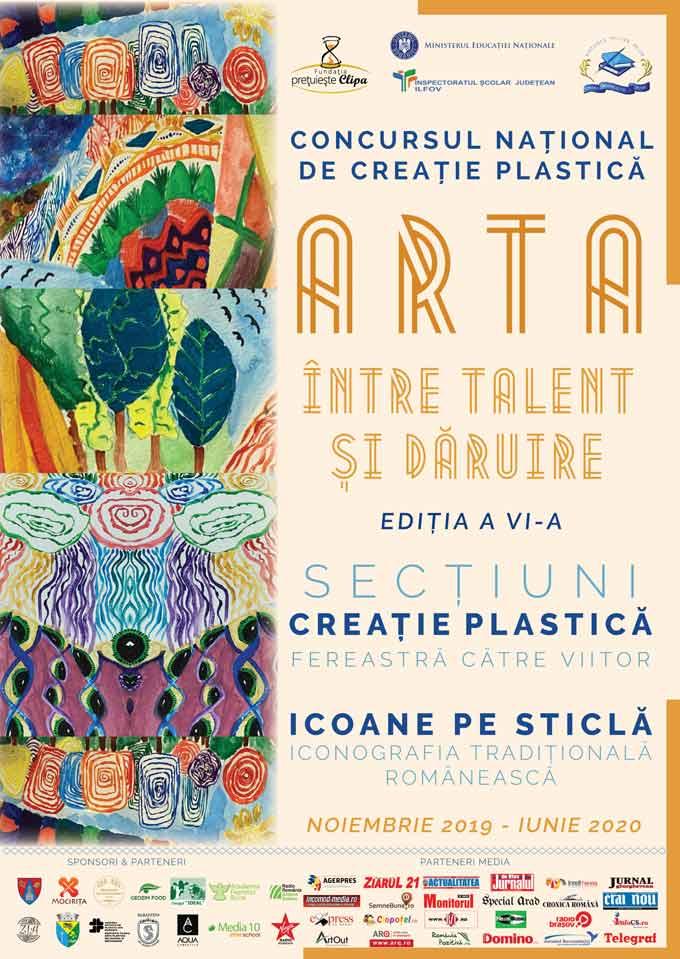 """CONCURSUL NATIONAL DE CREATIE PLASTICA """"ARTA – INTRE TALENT SI DARUIRE"""