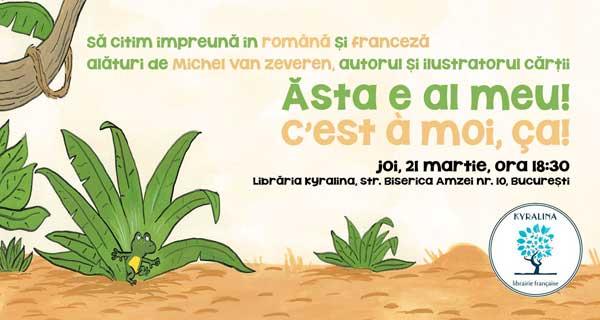 """Michel Van Zeveren in Romania: lansarea cartii """"Asta e al meu!"""""""