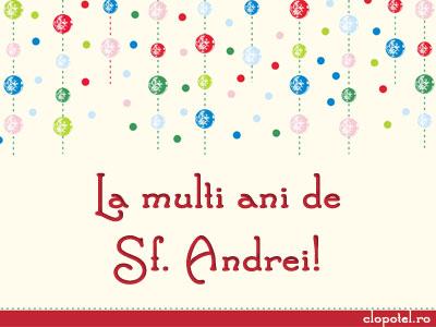 Felicitare aleasa - La multi ani de sf. Andrei