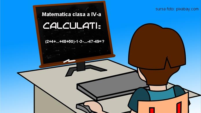 Test de clasa a IV-a la matematica