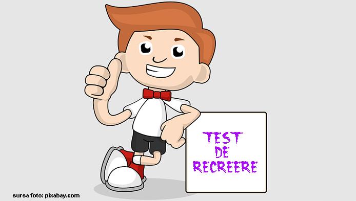 Test de recreere