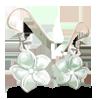 Cercei floare de argint